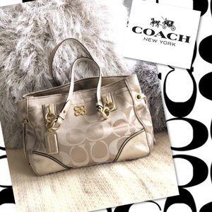 🍂🍁FLASHSALE❗️COACH Colette GOLD Carryall Handbag